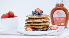 Lekker als ontbijt, lunch of gewoon tussendoor: American pancakes met maple syrup.