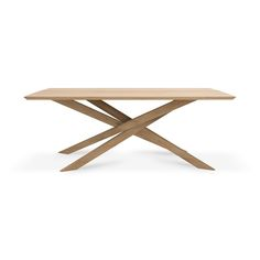 Oak Mikado dining table | 203 cm Cat Furniture, Dining Furniture, Oak Table, Dining Tables, Dining Room, House By The Sea, Well Thought Out, White Oak