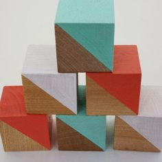 Cool painted blocks Modern Colors Two: I want this stuff #3: Springtime Edition {frugal fashion}