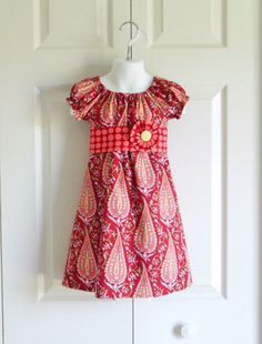 Hey, I found this really awesome Etsy listing at https://www.etsy.com/listing/197622502/girls-modern-peasant-dress-with-sash-and