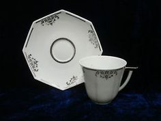 Art deco TLB Limoges coffee cup pattern number- 2487