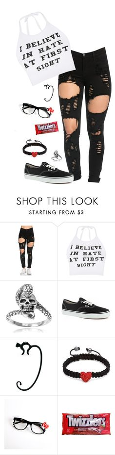 """I'll take my chances with you..."" by iamdarine ❤ liked on Polyvore featuring O-Mighty, Tressa, Vans, Alessi, Shamballa Jewels and Hello Kitty"