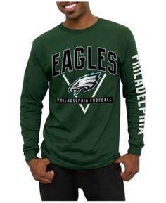 Junk Food Men's Philadelphia Eagles Nickel Formation Long Sleeve T-Shirt - Green M