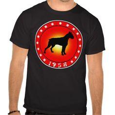 Year of the Dog 1958 Tee Shirt by YearOfThe  #yearofthedog #dog #yearofthe