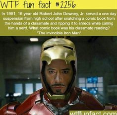 Iron man. Interesting Facts