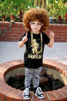 Possible halloween costume for evan next year?(:     god that kids loves to party rock!