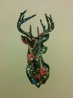 Deer galaxy <3 by me for father's day