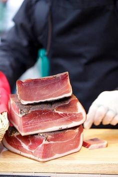 Speck! A cured meat popular especially in the north of Italy - think of it as prosciutto's lean and smoky cousin!