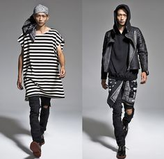 banal chic bizarre 2014 Spring Summer Mens Lookbook Presentation - Tokyo Japan Fashion Week - Designer Shun Nakagawa - Wide Leg Patchwork De...