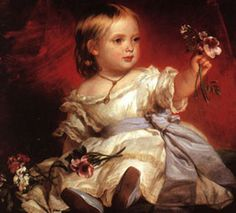 Queen Victoria As A Little Princess-Richard Lauchert (1823 – 1869, German)