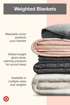 Create a cozy bedroom with fleece or knit weighted blankets that help calm anxiety & promote sound sleep and meditation. Cozy Bedroom, Bedroom Inspo, Bedroom Decor, First Apartment, Weighted Blanket, Dream Rooms, My New Room, Me Time, My Dream Home