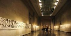 The Parthenon Marbles on display in the British Museum, London.