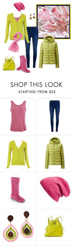 """""""it's frosty"""" by milliemarie ❤ liked on Polyvore featuring UGG Australia, Great Plains, Uniqlo, Hush Puppies, Collection XIIX, Toolally and Aspinal of London"""