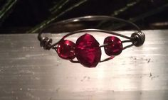 PRICE SLASH Half Off Ring Red Crystal Clear by CherylsGoodStuff, $3.00   Great Christmas gift!!!