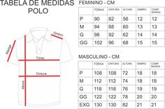 Tabela de medidas Polo Camisa Polo, Techniques Couture, Sewing Techniques, Fashion Vocabulary, Dress Sewing Patterns, Jacket Pattern, Print Logo, Baby Sewing, Boys T Shirts