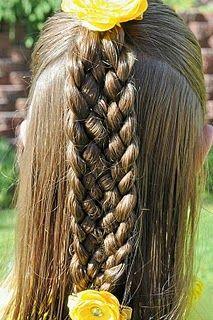 7-Strand Braid Hairstyle @ Princess Piggies