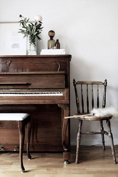 Beautiful wood finish piano