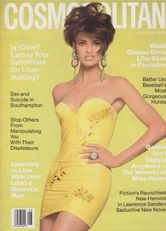 Top Models, Linda Evangelista Now, Gianni Versace, Jennifer Flavin, Francesco Scavullo, Cosmo Girl, Cosmopolitan Magazine, Fashion Cover, Mannequins