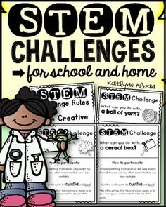 Start thinking S.T.E.M. !Send these sheets home with your students once every month so that parents can also get involved in STEM learning!  These have been created with easy to find and inexpensive items to encourage participation.  We display the projects that students bring in the school.