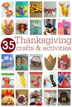 35 Easy Thanksgiving Crafts For Kids