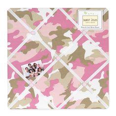 Sweet JoJo Designs Pink and Khaki Camo Bulletin Board | Overstock.com