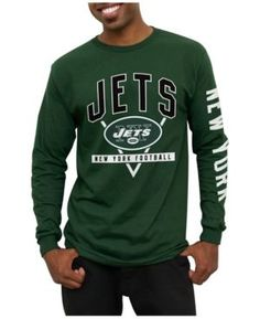 Junk Food Men's New York Jets Nickel Formation Long Sleeve T-Shirt - Green S