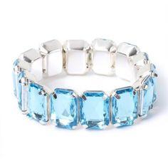 Gemstone Stretch Tile Bracelet