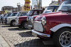 Looking forward to seeing Classic #Mini like these at the #ClassicMotorShow this weekend.  We will be on stand TV35 with Digital Speedos  http://www.smiths-instruments.co.uk/blog/the-history-of-mini-gauges