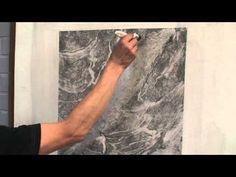 White marble imitation painting (part 1) - YouTube