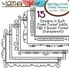 Half Page Doodle Frames & Borders! $