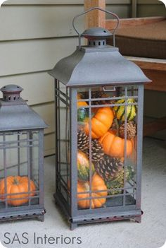 Fill a lantern with fall items! :)