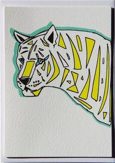 Holly's House - Snow Tiger Card