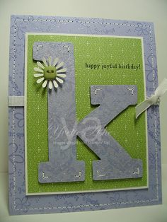 Would be so easy with my cricut. Diy Birthday, Birthday Cards, Happy Birthday, Old Greeting Cards, How To Make An Envelope, Mosaic Glass, Joyful, Envelopes, Bff