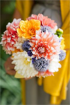 Chrysanthemum bouquet! simple and lovely! visit www.yourdreamshaadi.co.uk for more advice and inspiration!