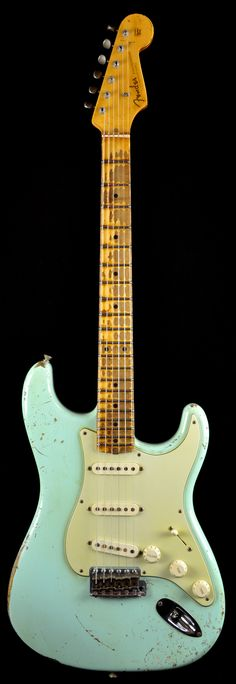 Fender Custom Shop 1956 Heavy Relic Stratocaster Surf Green <-- I really really really need one of these! Fender Relic, Guitar Fender, Fender Electric Guitar, Stratocaster Guitar, Cool Electric Guitars, Acoustic Guitars, Fender Custom Shop Stratocaster, Gibson Guitars, Bass Guitars
