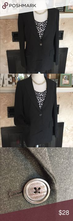 Brooks Brothers Plus Size Blazer Charcoal gray Blazer with pockets, single button wait and slight shoulder detail. Some minimal wear under arms. Very clean and professional look. Feel free to comment with any other questions and Happy Poshing! 🤗 Brooks Brothers Jackets & Coats Blazers