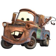 Disney Pixar Cars Mater Peel And Stick Giant Wall Decal,,Christmas Day Products,Gifts Products Disney Pixar Cars, Disney Tangled, Disney Movies, Disney Cars Characters, Ford Mustang Gt, Auto Skoda, Car Themed Rooms, Tow Mater, Disney Cars