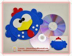 TokdiAmorecomArt: Porta CD Galinha Pintadinha