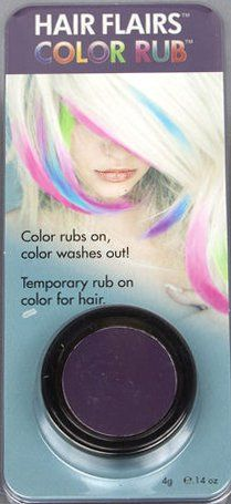 Color Rub-- dare to try color dipped hair? Do it with Hair Flairs for testing (rub in, comes off with water.)