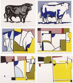 How to Teach Abstract Art, Concept of Abstraction, Roy Lichtenstein, Bull Series, 1973 Abstract Art Lesson