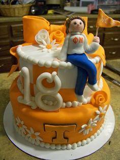 b456e234720ad39749ec29c37334cf0b tn football football season birthday cake ut style vols university of tennessee football; i