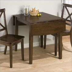 Square Table | Drop Leaf Table | Extendable Table | Apartment Living | Studio Living | Usaj Realty