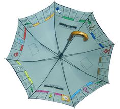 A Monopoly umbrella?! I need this! Definitely in the minority but it has to be one of my all-time favourite board games.