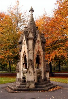 The 1872 fountain in Clifton, built in a Gothic Revival style, commemorates the 1861 presentation of Clifton Down to the City of Bristol by the Society of Merchant