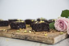 Gluten Free Pistachio Rosewater Brownies | FOOD MATTERS®