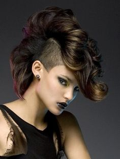 Girl Mohawk Hairstyles Trends and Ideas - Mohawks for girls are more popular than ever, with many cool versions available for this iconic punk style. Check out the best mohawk styles for girls.