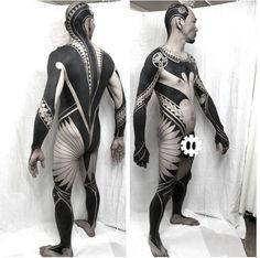 Pin by marieve marechal on solid black tattoos tattoos, blackout tattoo, bo Badass Tattoos, Sexy Tattoos, Black Tattoos, Body Art Tattoos, Tribal Tattoos, Tatoos, Full Body Tattoo, Arm Tattoo, Sleeve Tattoos