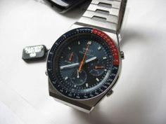 Vintage 7A28 703A Pepsi Quartz Chronograph by Seiko.