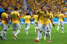 Partidazo de Neymar en el 1-4 de Brasil, rival de Chile en octavos