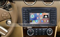 An installation guide of a 2005-2012 Mercedes Benz ML Class W164 car stereo with touch screen multimedia navigation system